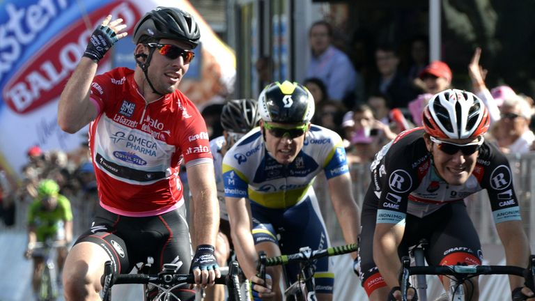 Mark Cavendish claimed his 40th Grand Tour stage win
