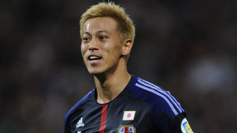 Keisuke Honda: The midfielder has been linked with a move to AC Milan and Everton