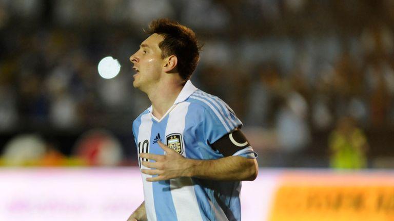 Lionel Messi: Hit three for Argentina