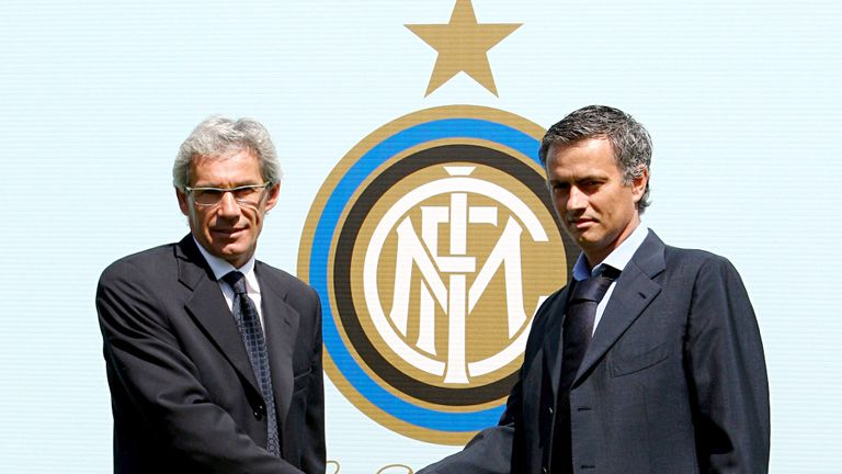 Mourinho won two Serie A titles and a Champions League at Inter
