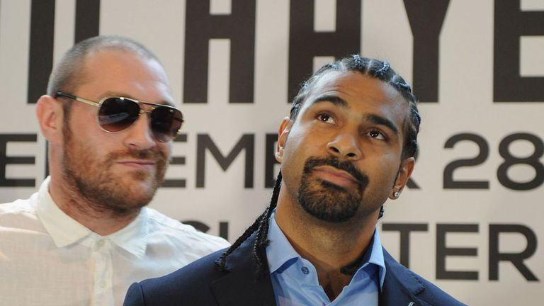 David Haye was scheduled to fight Tyson Fury in 2013 and 2014