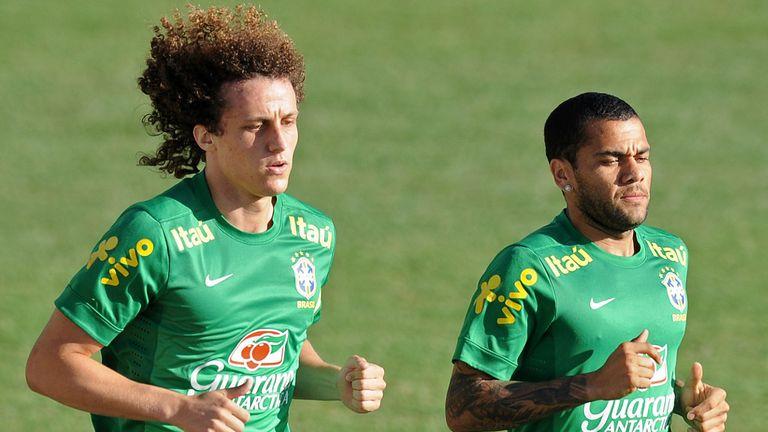 David Luiz: Training with Brazil and potential new team-mate Dani Alves