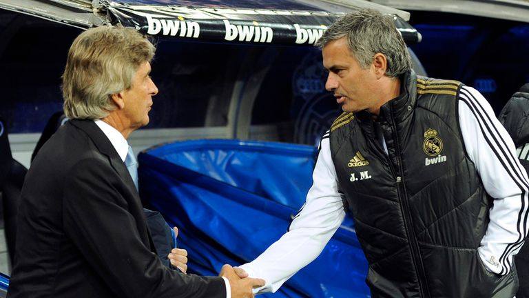 Mourinho and Pellegrini's rivalry began in Spain after the Portuguese took over from him at Real Madrid