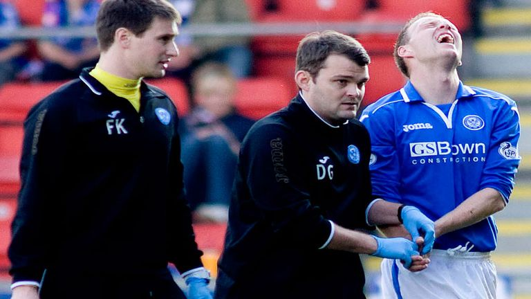 Steven Anderson: Helped off against Thistle