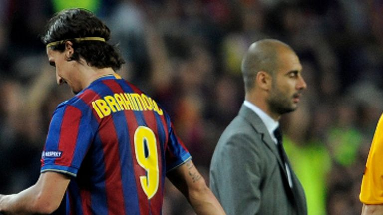 The Swede did not get on with Barca boss Guardiola