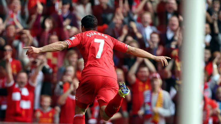 Luis Suarez: Gave Liverpool the lead against Palace