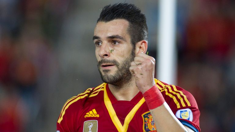 Alvaro Negredo: Celebrates after his goal