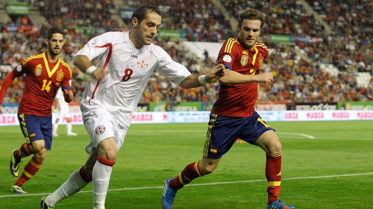 Juan Mata: Spain and Chelsea midfielder in action against Georgia