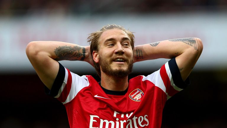 Nicklas Bendtner: Set to become a free agent at the end of the season