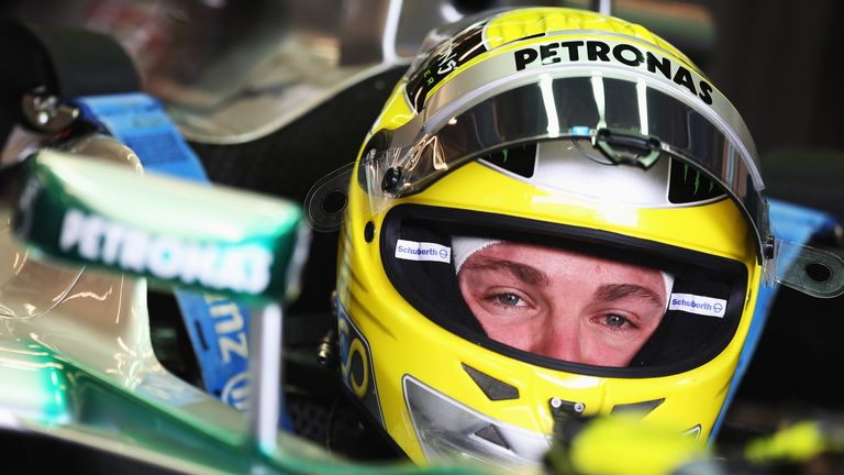 Nico Rosberg: Has put the first laps on Mercedes' 2014 car