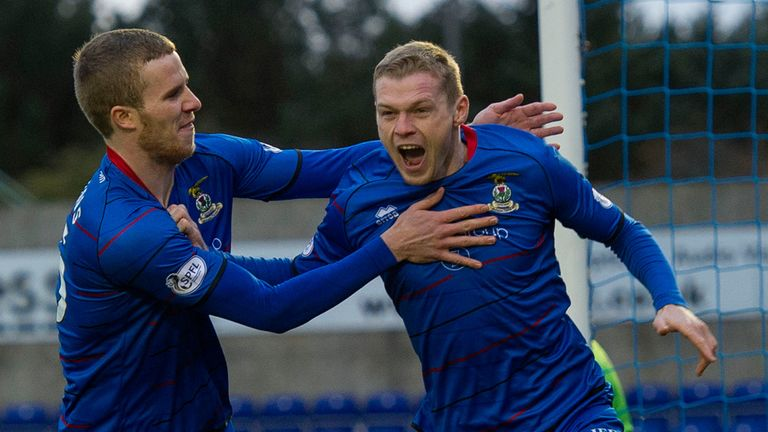 Billy McKay: Celebrates his early goal that turned out to be a match-winner