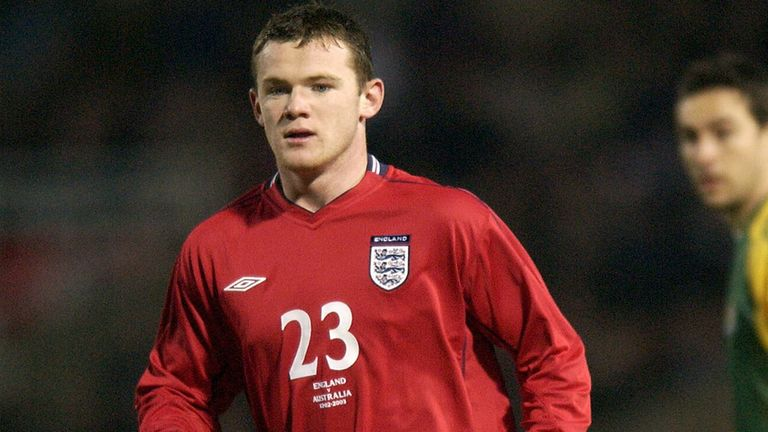 Wayne Rooney made his England debut in a 3-1 defeat to Australia at Upton Park
