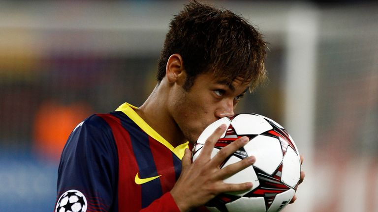 Neymar: Joined Barcelona from Santos in June last year