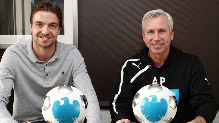 Tim Krul and Alan Pardew: Rewarded for fine form in November