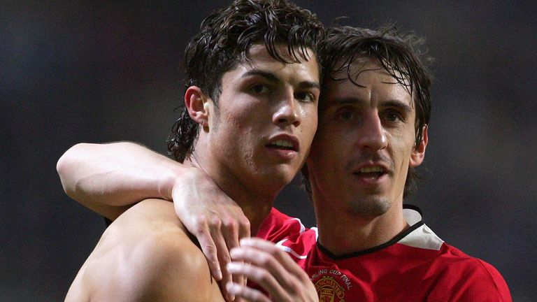Neville will be reunited with his former team-mate Cristiano Ronaldo on Sunday