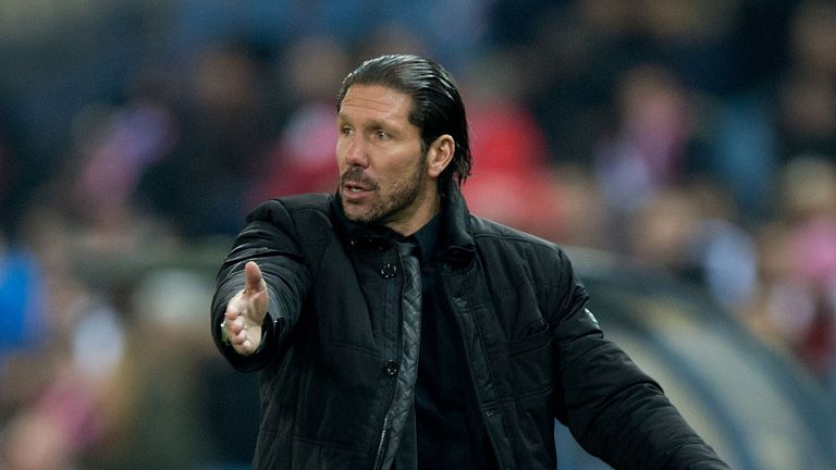 Diego Simeone: Plays down Atletico's title chances