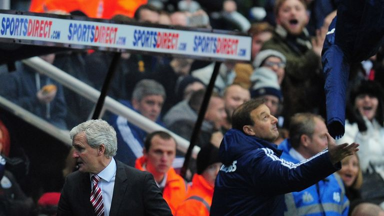 Mark Hughes: Sent to the stands in defeat