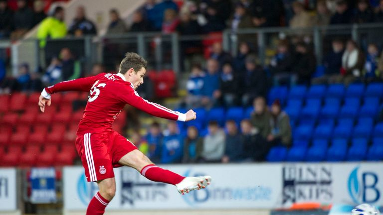 Peter Pawlett: Puts Aberdeen on course for victory in Perth
