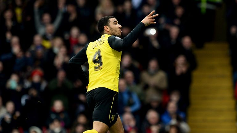 Troy Deeney: Celebrates his goal for Watford