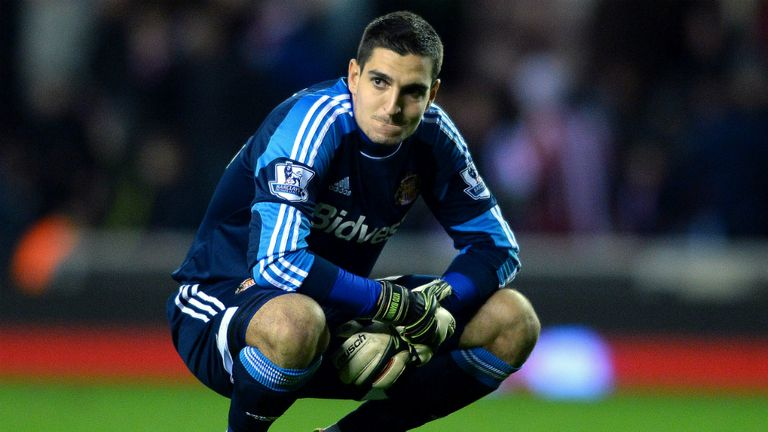 Vito Mannone: Sunderland goalkeeper has been linked with a move to Old Trafford