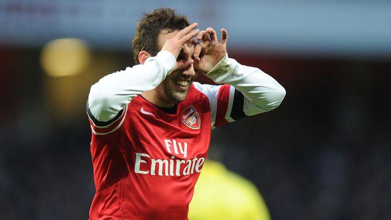 Santi Cazorla: Bagged a brace for Arsenal