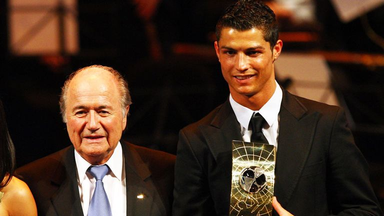 Cristiano Ronaldo and Sepp Blatter are back on good terms