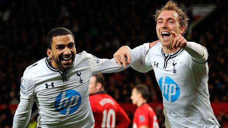 Christian Eriksen celebrates Tottenham winner