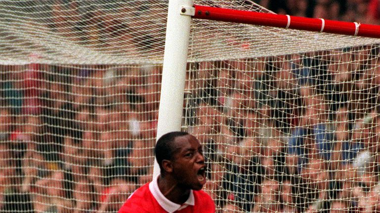 Ian Wright made nearly 300 appearances for Arsenal