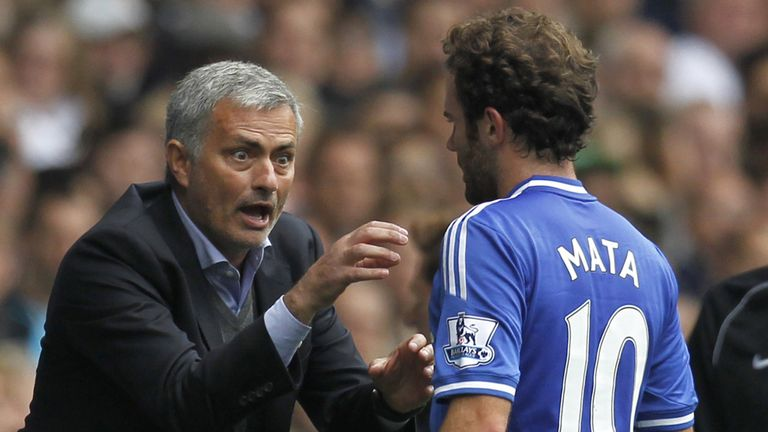 Jose Mourinho sold Mata (right) to Man United in January 2014