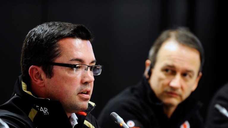 Eric Boullier: New McLaren Racing Director working alongside Jonathan Neale (R)
