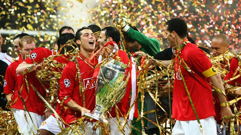 Manchester United won the last all-English Champions League final after beating Chelsea in Moscow