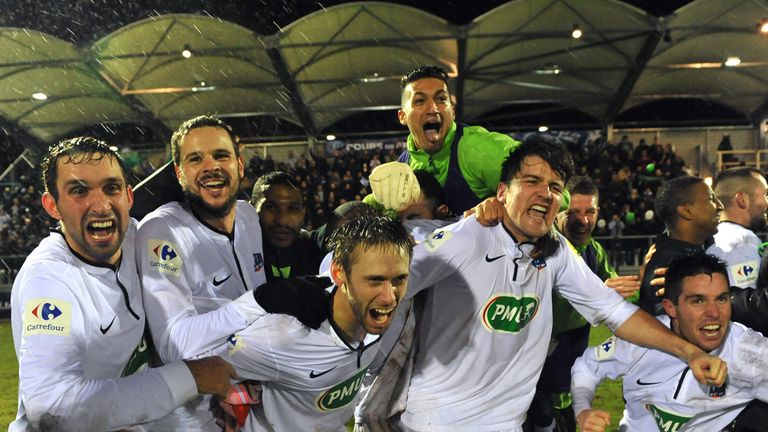 Yzeure: Celebrate after their victory against Lorient