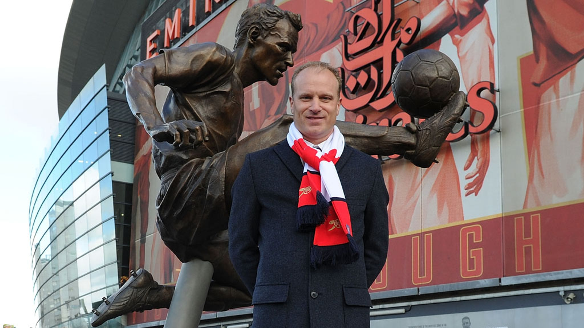 Arsenal legend Dennis Bergkamp emotional as statue is unveiled at ...