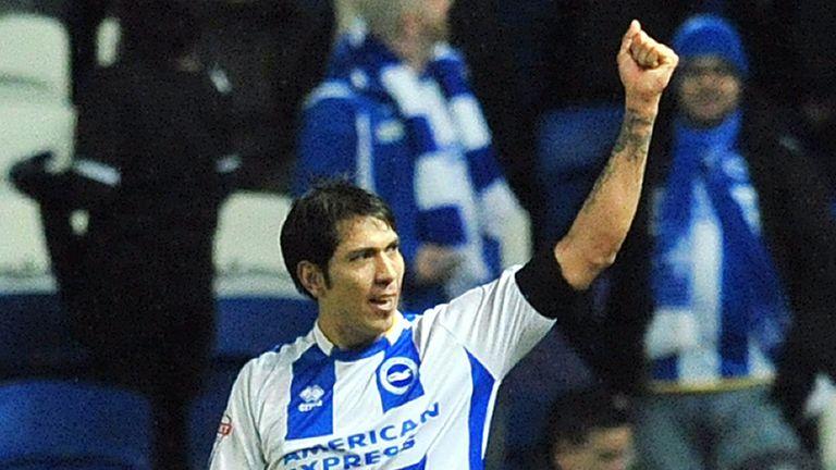 Leonardo Ulloa left Brighton for Leicester in 2014