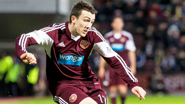 David Smith: Hearts winger suffered a knee injury against Inverness Caley
