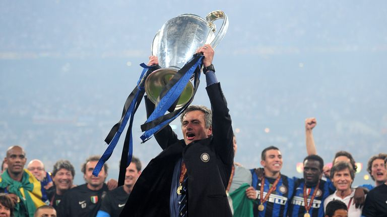 Mourinho won an unprecedented Serie A, Champions League and Italian Cup treble with Inter during his last spell in Italy