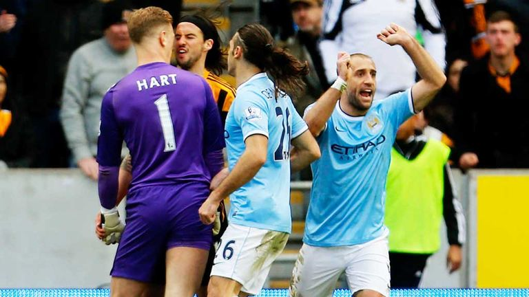 George Boyd and Joe Hart: Clashed at the KC Stadium
