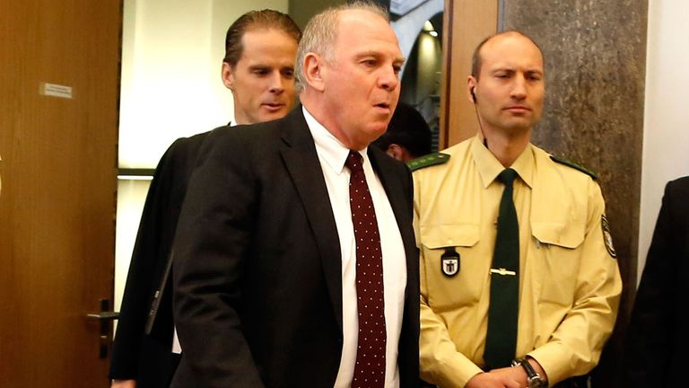 Uli Hoeness has left prison after serving half his sentence