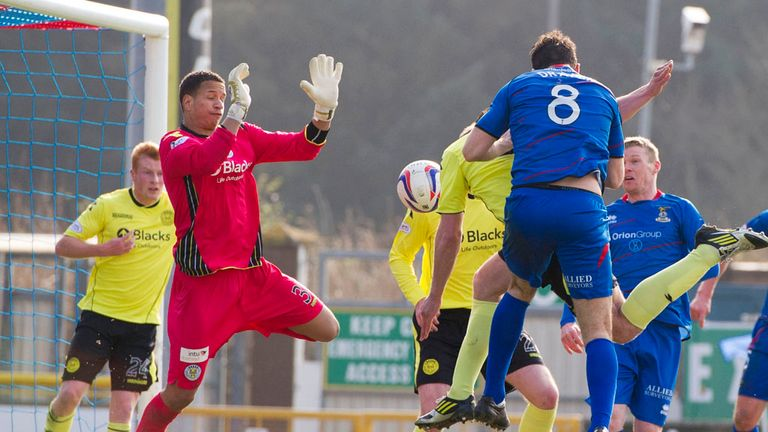 Ross Draper: Heads a first-half equaliser for Inverness