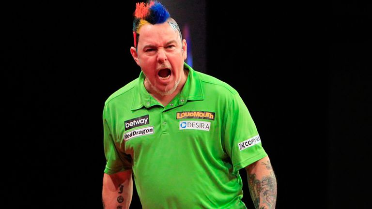 Peter Wright: Colourful character puts his unbeaten record on the line on Thursday