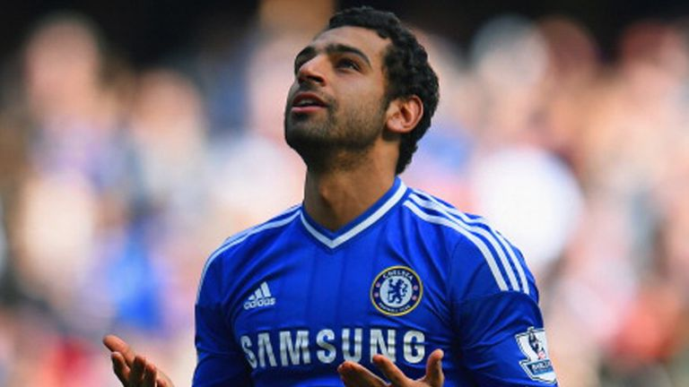 Salah managed only six Premier League starts in his time at Chelsea