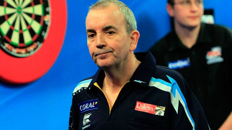 Phil Taylor: Eliminated from UK Open after stunning defeat to Aden Kirk