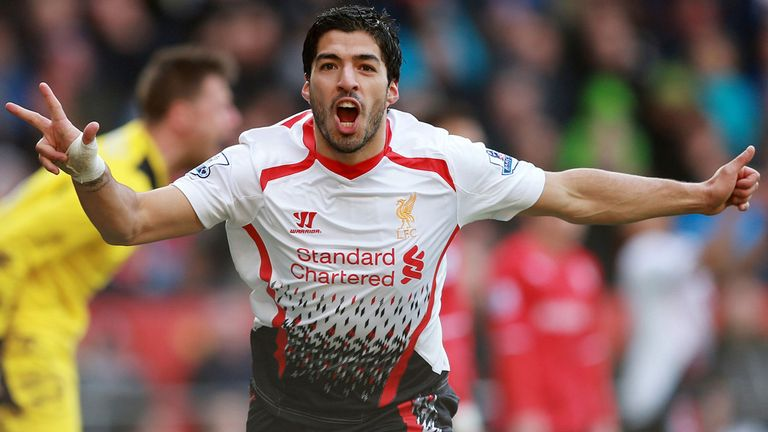 Suarez: has left Liverpool in a big-money move to Barcelona