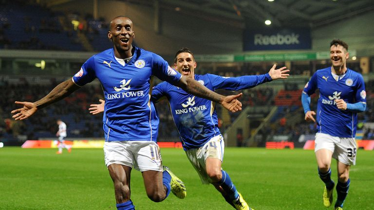 Lloyd Dyer: Leicester substitute celebrates his title-winning goal