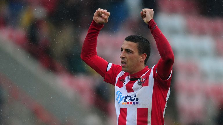 Liam Sercombe: On target for Exeter at Accrington