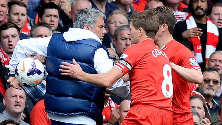 Jose Mourinho revelled in his role as villain at Anfield in April 2014