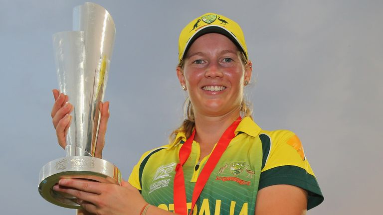Australia skipper Meg Lanning with the ICC World T20 trophy
