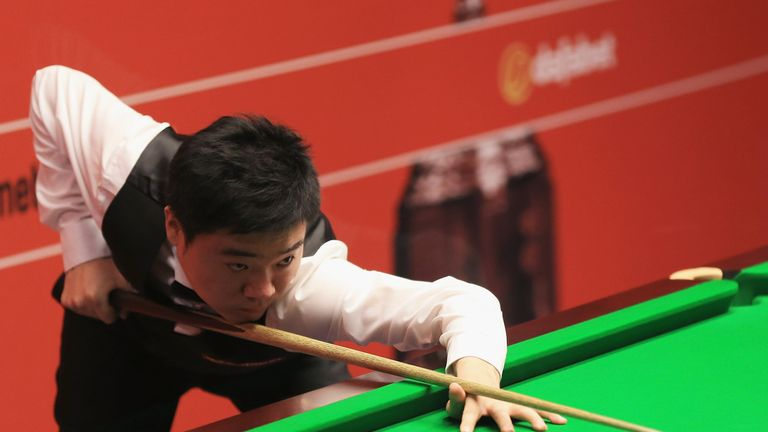 Ding Junhui beat Martin Gould in the second round of the Shanghai Masters