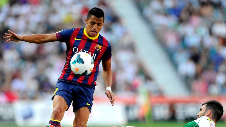 Alexis Sanchez in action for Barcelona