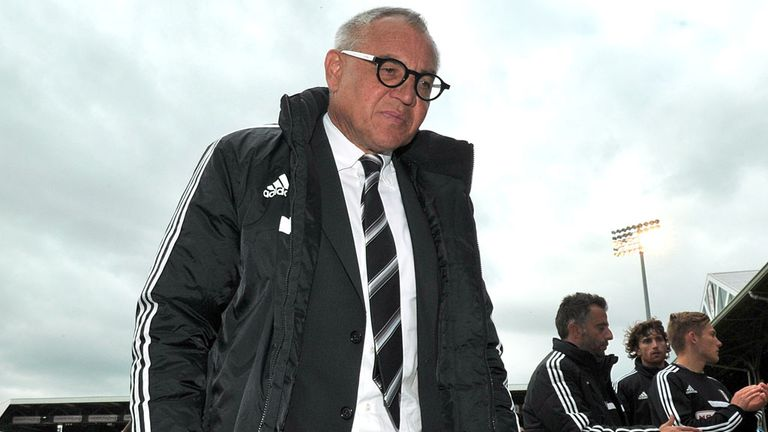 Felix Magath: Only picked up four wins during Fulham reign